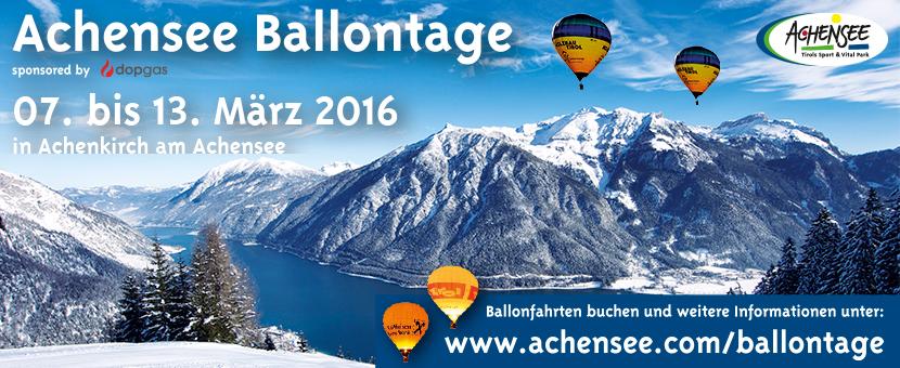 ballonfahren in den alpen | internationale ballontage Achensee 2016